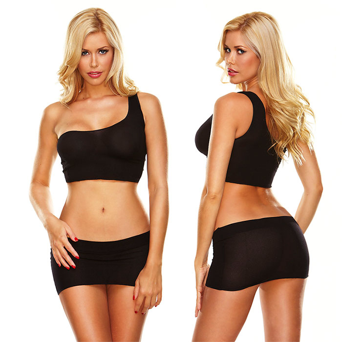Эротический комплект женский Hustler Lingerie, цвет: черный. HH153. Размер универсальный