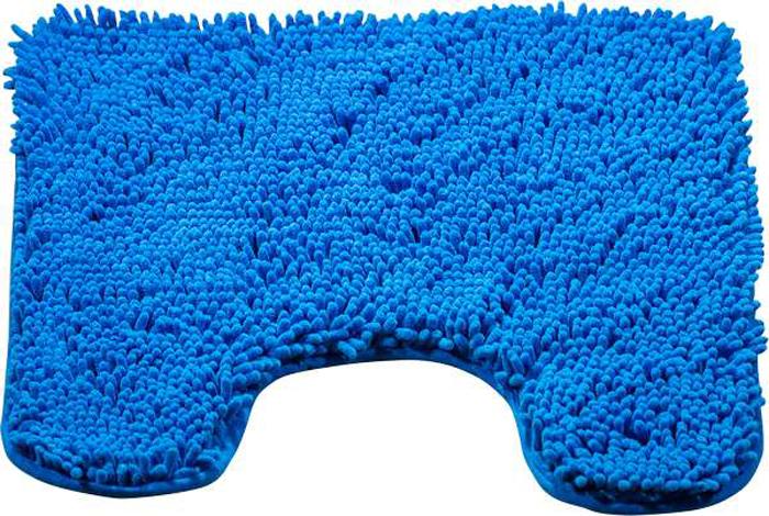 Коврик для туалета Brissen Chenille, цвет: синий , 50 х 50 смBSMT-8000-BlueКоврик для туалета Brissen Chenille – необходимый элемент декора санузла. Модель выполнена из микрофибры с длинным, мягким ворсом. Коврик приятен на ощупь и не вызывает аллергических реакций. Полиэстер хорошо впитывает влагу и быстро высыхает. Этот материал не подвержен образованию плесени и вредоносных микроорганизмов, в нем не заводится моль. Коврик не скользит на полу, прост в уходе и долговечен.