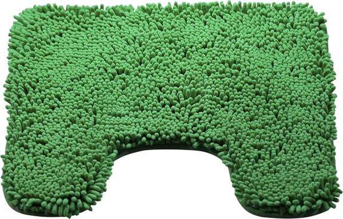 Коврик для туалета Brissen Chenille, цвет: зеленый, 50 х 50 смBSMT-8000-GreenКоврик для туалета Brissen Chenille – необходимый элемент декора санузла. Модель выполнена из микрофибры с длинным, мягким ворсом. Коврик приятен на ощупь и не вызывает аллергических реакций. Полиэстер хорошо впитывает влагу и быстро высыхает. Этот материал не подвержен образованию плесени и вредоносных микроорганизмов, в нем не заводится моль. Коврик не скользит на полу, прост в уходе и долговечен.
