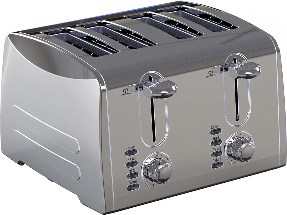 Gemlux GL-T-4S, Silver тостер