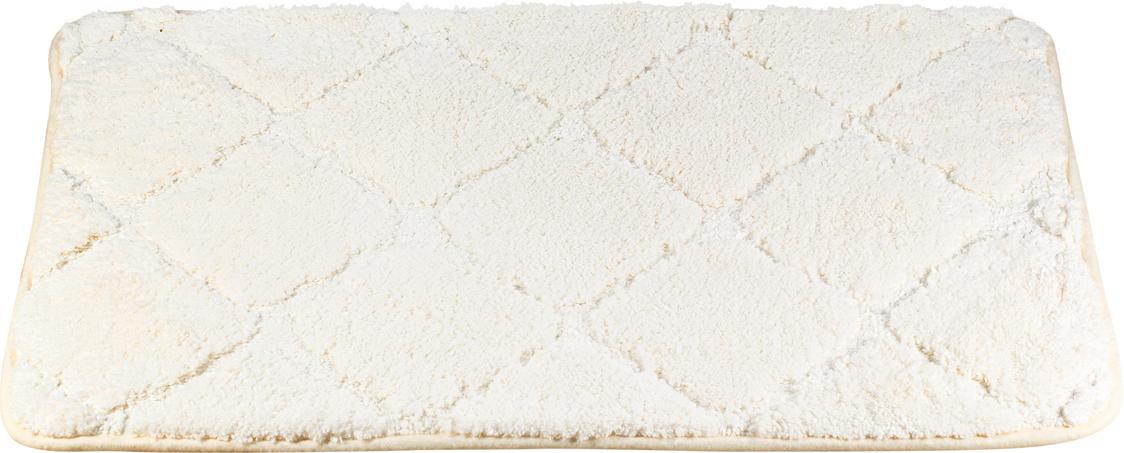"""Мягкий коврик из микрофибры Brissen """"Quiet"""" — аксессуар для ванной комнаты, сочетающий привлекательную расцветку с хорошими эксплуатационными качествами. Ворс отличается высокой плотностью и пушистостью, что обеспечивает приятные ощущения босым ступням. Изделие из полиэстерового волокна легко впитывает влагу и быстро сохнет. Не теряет первоначального вида после многократных стирок."""
