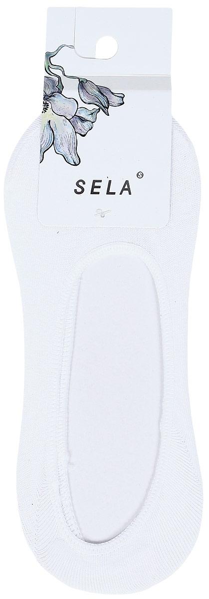 Носки женские Sela, цвет: белый. SOb-154/086-8181. Размер 23/25 носки для мальчика sela цвет серый меланж sob 7854 035 7101 размер 20 22