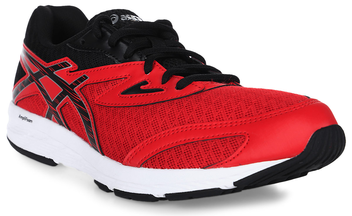 Кроссовки для мальчика Asics Amplica GS, цвет: красный. C808N-2390. Размер 7 (38,5)C808N-2390Легкие кроссовки Asics Amplica GS предназначены для бега и ходьбы на улице. Прочная модель для бега, тренировок и ходьбы в течение всего дня. Кроссовки дополнены шнуровкой.