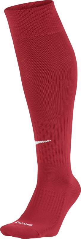 Гетры футбольные Nike Classic, цвет: красный. SX4120-601. Размер MSX4120-601Nike Academy Over-The-Calf Football Socks КОМФОРТ, ОТВЕДЕНИЕ ВЛАГИ И ПЛОТНАЯ ПОСАДКА. Футбольные носки Nike Academy Over-The-Calf из легкой ткани с технологией Dri-FIT и поддержкой свода стопы обеспечивают комфорт во время игры. Ткань Dri-FIT отводит влагу, обеспечивая комфорт. Усиленные пятка и мысок надежно защищают места, подверженные наибольшему износу. Анатомически продуманный крой улучшает посадку. Поддержка стопы для плотной и надежной посадки.