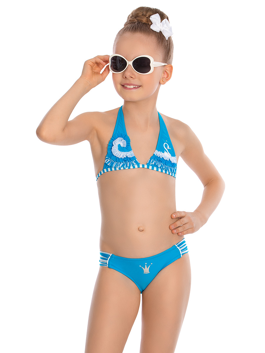 Купальник раздельный для девочки Arina Nirey, цвет: голубой. GM 071802. Размер 140/146 купальник раздельный для девочки arina nirey цвет разноцветный gm 061803 размер 152 158