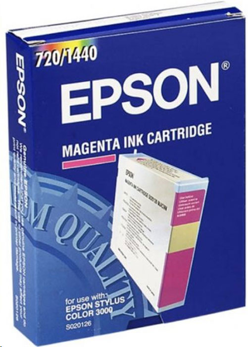 Epson S020126, Magenta картридж для Stylus Color 3000 100% new and original dx2 printhead for epson 1520k 3000 c7000 9000 9500 printer head dx2 printh black