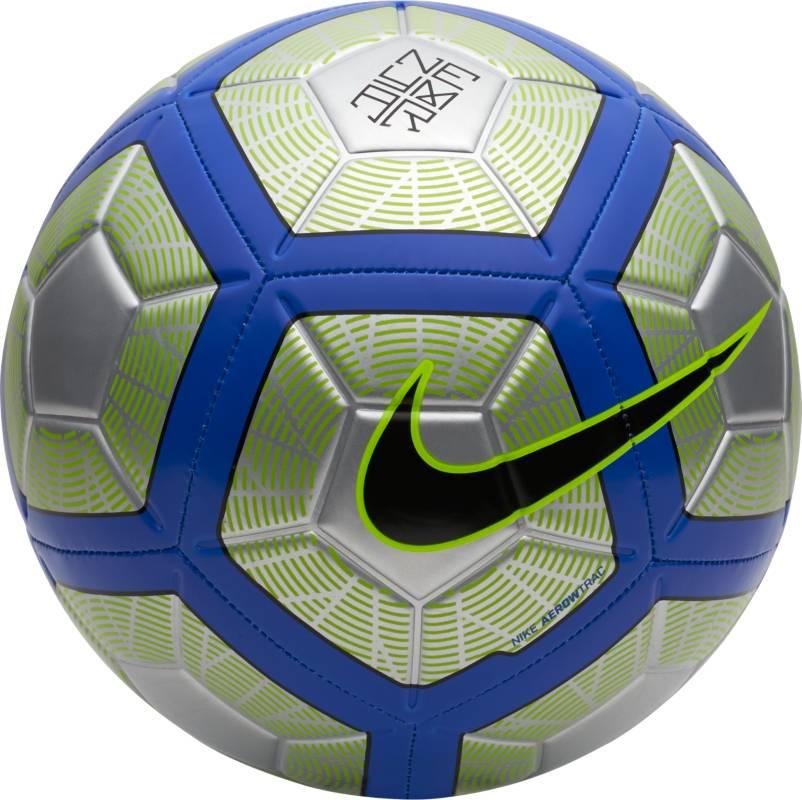 Мяч футбольный Nike Neymar Strike Football. Размер 5SC3254-012Neymar Strike Football ФУТБОЛ КАЖДЫЙ ДЕНЬ С ИДЕАЛЬНОЙ ЭКИПИРОВКОЙ. Футбольный мяч Neymar Strike идеально подходит для ежедневных игр. Благодаря графике Visual Power его легко отслеживать на поле, а укрепленная резиновая камера обеспечивает упругость и сохранение формы.С графикой Visual Power ты увидишь мяч быстрее и отреагируешь вовремя.Текстурированное покрытие для превосходного касания.Желобки Nike Aerotrac для точной траектории полета мяча.60% РЕЗИНА15% ПОЛИУРЕТАН13% ПОЛИЭСТЕР12% EVA