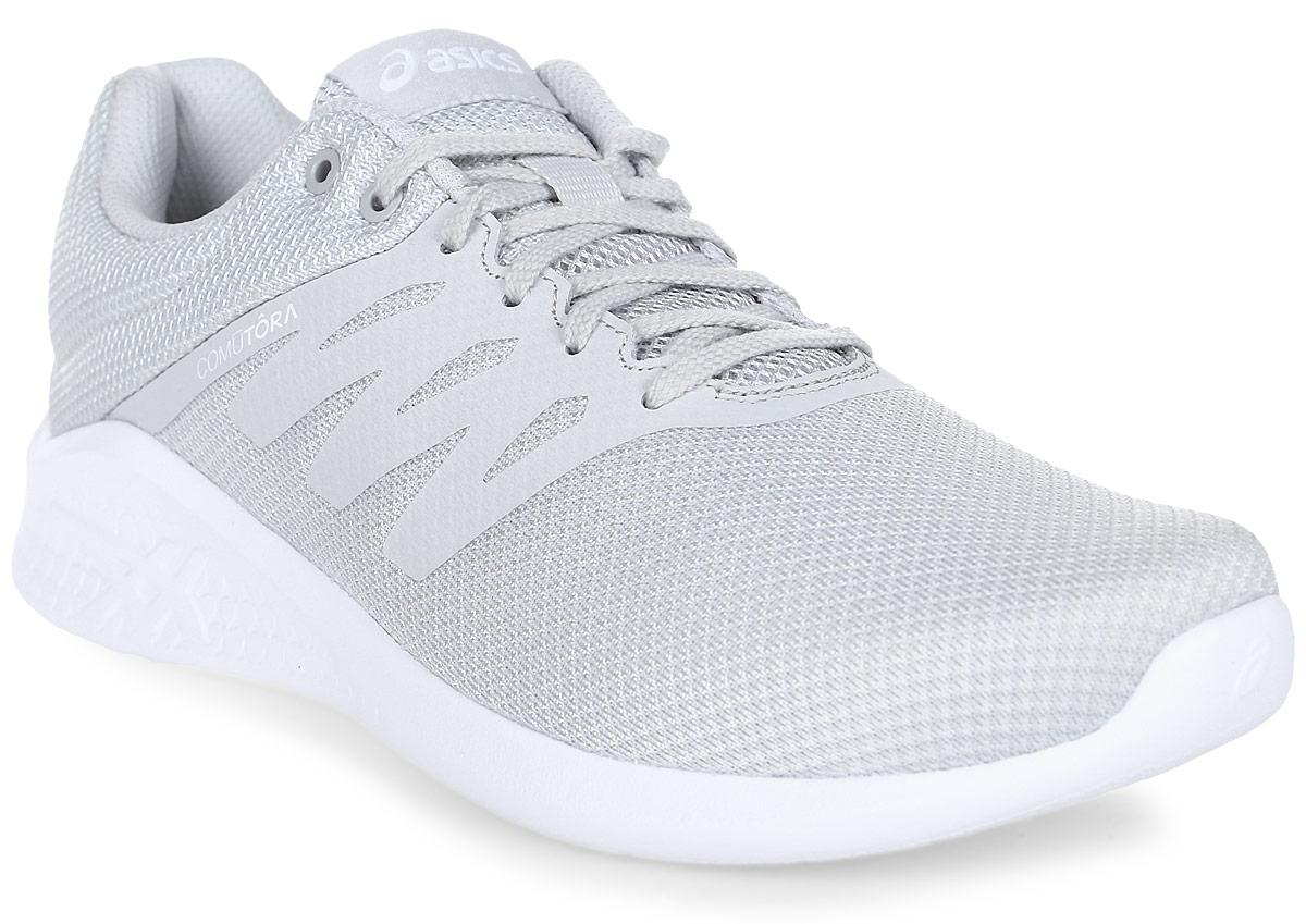 Кроссовки женские Asics Comutora, цвет: светло-серый. T881N-9696. 8H (38,5)T881N-9696Женские кроссовки Asics Comutora созданы для тех, кому важна универсальность обуви для тренировок. Легкая верхняя часть и мягкий подъем стопы обеспечивают комфорт и свободу движений благодаря свободному прилеганию в области щиколотки. Кроссовки с низким профилем идеально подходят для видов спорта, не требующих интенсивной нагрузки, таких как спортивная ходьба, бег трусцой и велоспорт. Легкая и прочная обувь с отличной амортизацией благодаря технологии Unisole оптимально адаптирована для ваших тренировок.