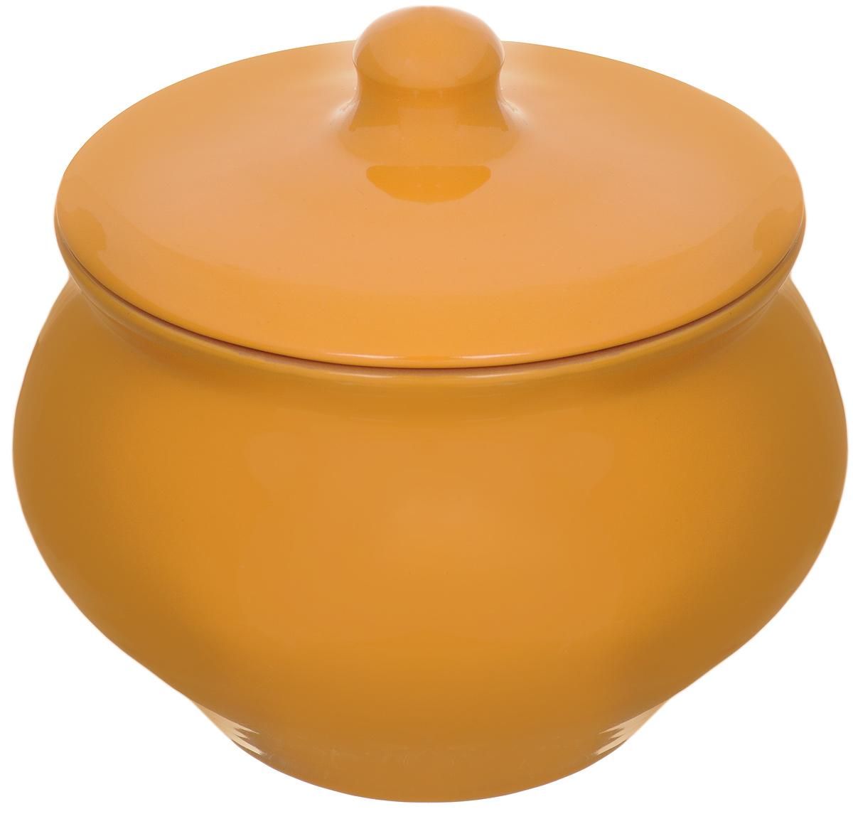 """Горшок для запекания Борисовская керамика """"Радуга"""" выполнен из высококачественной керамики. Уникальные свойства красной  глины и толстые стенки изделия обеспечивают """"эффект русской печи"""" при приготовлении блюд. Блюда, приготовленные в керамическом горшке,  получаются нежными и сочными.  Вы сможете приготовить мясо, сделать томленые овощи и все это без капли масла. Это один из самых здоровых способов приготовления пищи.   Можно использовать в духовке и микроволновой печи.  Объем: 1,3 л."""