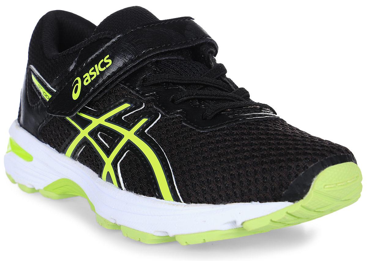 Кроссовки для мальчика Asics Gt-1000 6 PS, цвет: черный. C741N-9007. Размер 3 (33,5)C741N-9007Легкие кроссовки для мальчика Asics Gt-1000 6 Ps покорят вашего ребенка своим дизайном и функциональностью! Верх кроссовок выполнен из специальной дышащей сетки, которая обеспечивает оптимальный микроклимат внутри обуви. Промежуточная подошва из EVA и вставки Asics Gel в пяточной области обеспечивают превосходную поддержку и предохраняют ноги ребенка от усталости. В модели предусмотрена съемная стелька для простоты ухода и дополнительной амортизации. Светоотражающие элементы обеспечат безопасность в темное время суток.