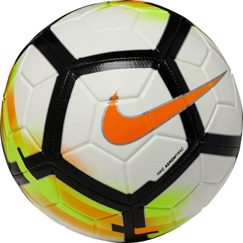 Мяч футбольный Nike Strike Football. Размер 5SC3147-100Футбольный мяч Nike Strike идеально подходит для ежедневных игр. Благодаря графике Visual Power его легко отслеживать на поле, а укрепленная резиновая камера обеспечивает упругость и сохранение формы. Текстурированное покрытие для превосходного касания. Желобки Nike Aerowtrac для точной траектории полета мяча. Конструкция из 12 панелей для точной траектории полета.Рельефное покрытие из материала TPU обеспечивает оптимальное касание и контроль мяча. Машинная строчка усиливает прочность и улучшает касание для длительного сохранения функциональных качеств. Усиленная бутиловая камера отлично сохраняет форму.