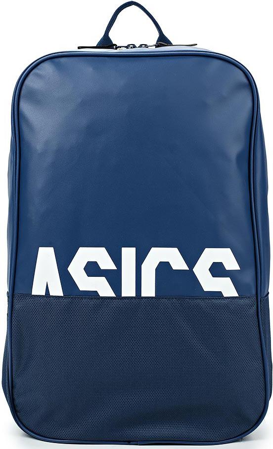 Рюкзак Asics Tr Core Backpack, цвет: синий. 155003-0793155003-0793;155003-0793Стильный рюкзак от брендаAsics с обновленным логотипом выполнен из плотного текстиля.Внутри имеется сетчатый карман и карман на резинке для аксессуаров.Рюкзак дополнен внешним карманом на молнии в нижнем отделении.Регулируемые лямки для оптимальной посадки и удобной переноски.Контрастный принт в виде надписи.