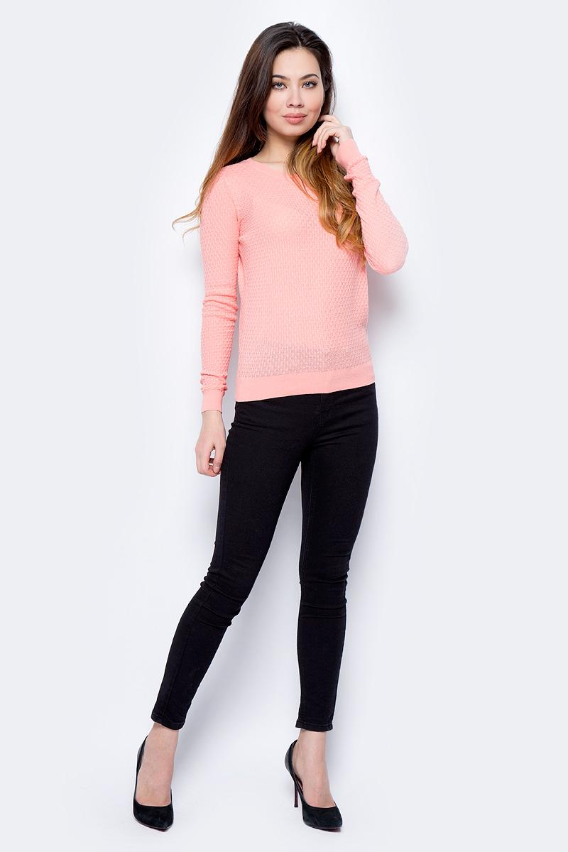 Джемпер женский Sela, цвет: персиковый. JR-114/693-8182. Размер L (48)JR-114/693-8182