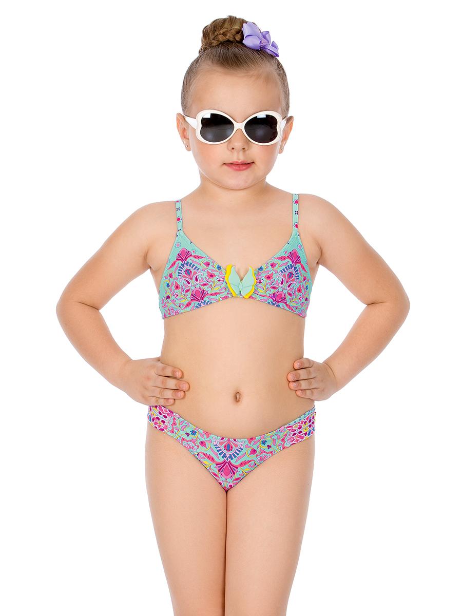 Купальник раздельный для девочки Arina Nirey, цвет: разноцветный. GM 061802. Размер 128/134 купальник раздельный для девочки arina nirey цвет разноцветный gm 061803 размер 152 158