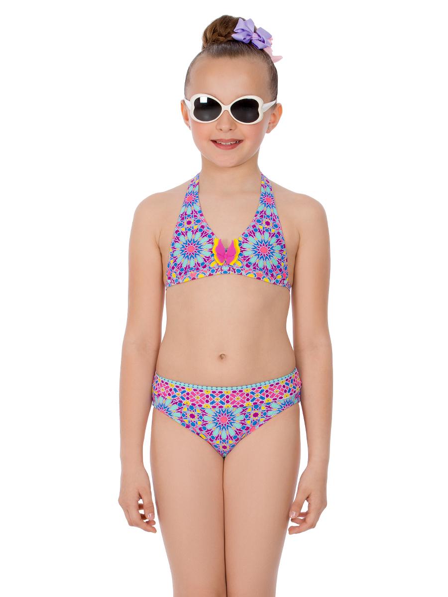 Купальник раздельный для девочки Arina Nirey, цвет: разноцветный. GM 061803. Размер 152/158 купальник слитный для девочки arina nirey цвет голубой gs 141802 размер 152 158