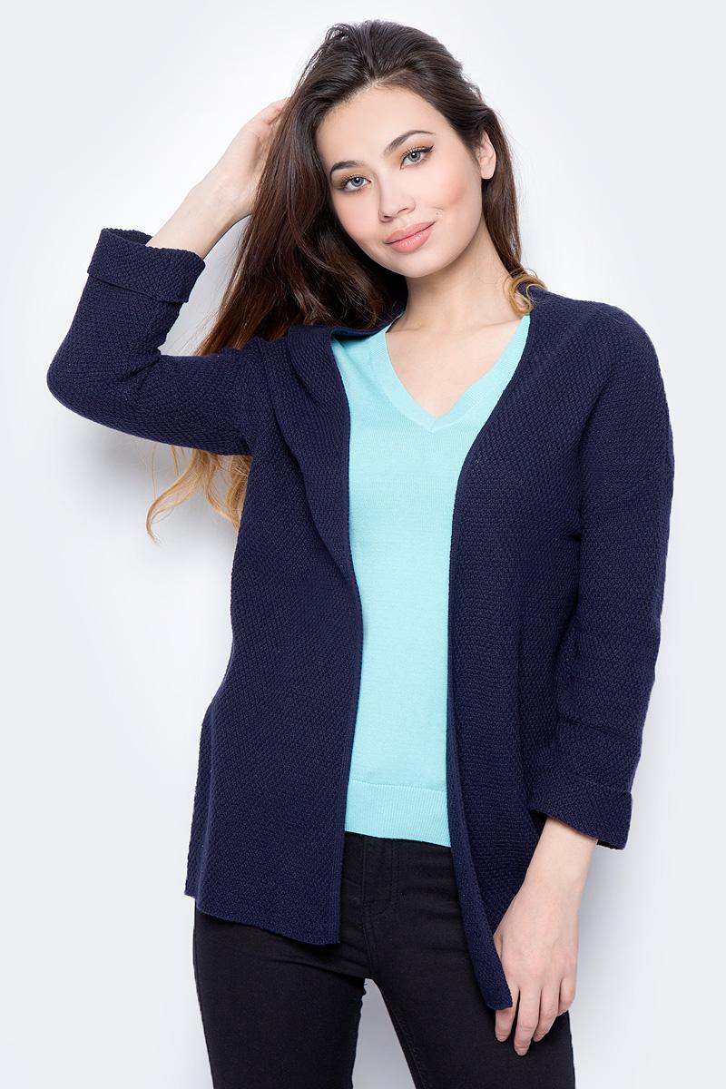Кардиган женский Sela, цвет: темно-синий. CN-114/1307-8112. Размер XS (42) цена