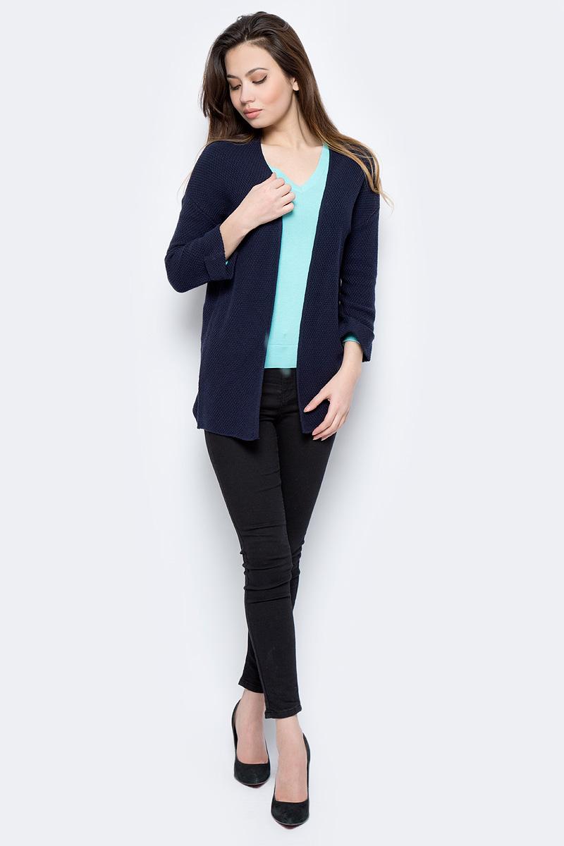 Жакет женский Sela, цвет: темно-синий. CN-114/1307-8112. Размер XXL (52) жакет женский sela цвет темно синий jtk 116 448 6171 размер s 44