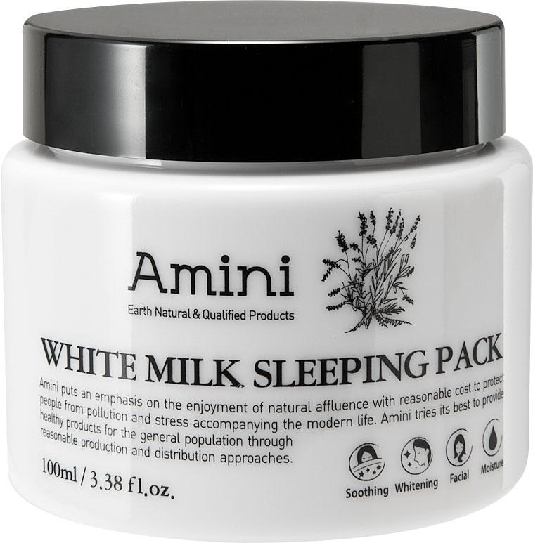 Amini Ночная маска для лица Белое молоко, 100 мл beauty clinic маска крем ночная для лица с n m f 15 мл