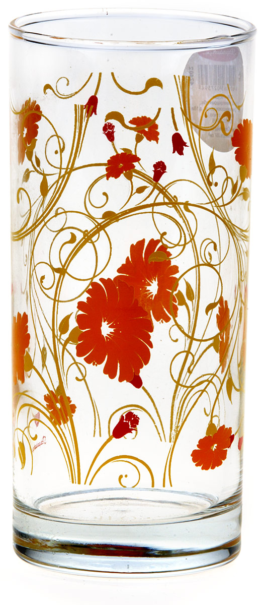 Стакан Pasabahce Оранж Серенейд, 290 мл42402SLBD16Стакан SERENADE, 287 мл, оранжевые цветы