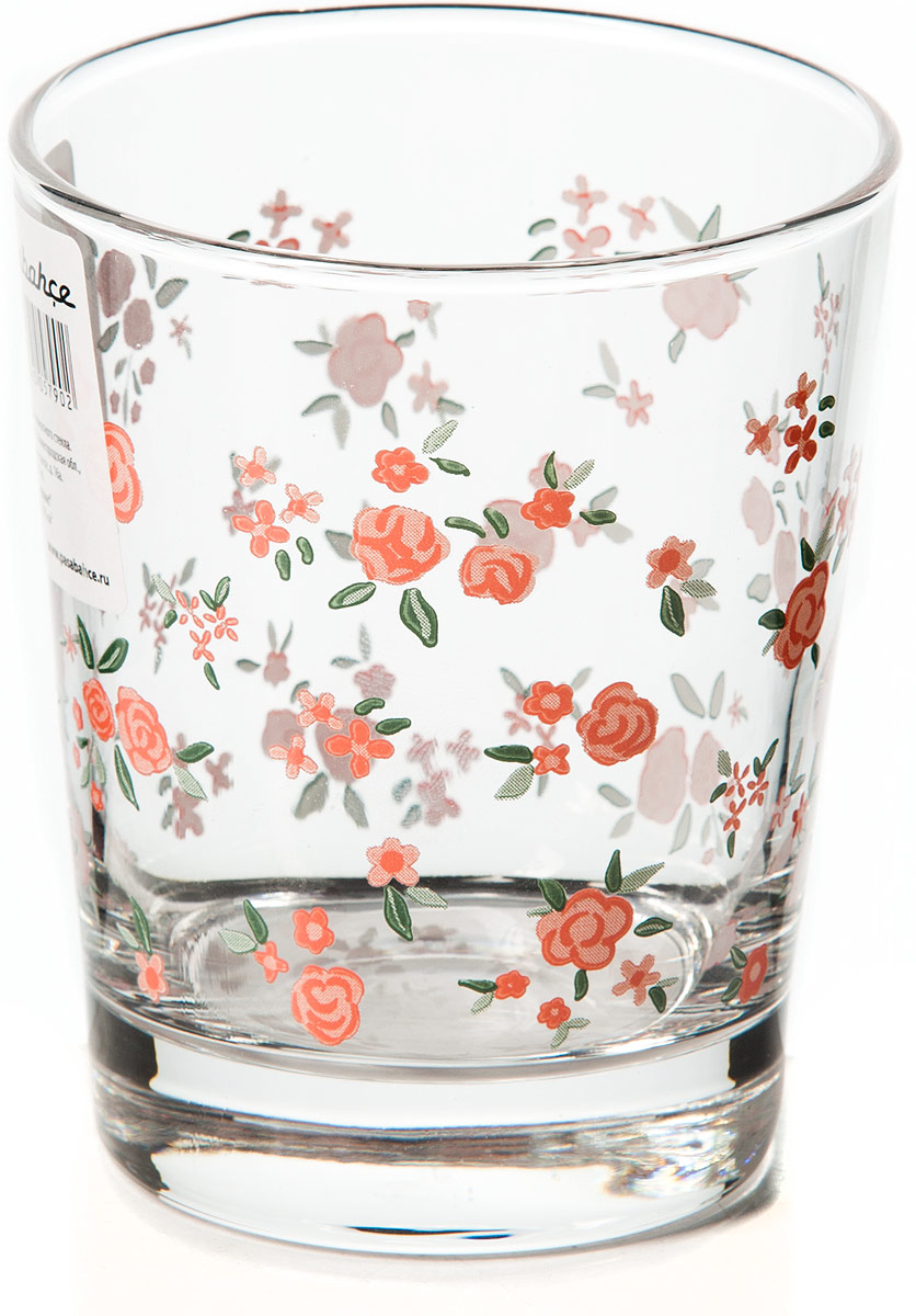 Стакан Pasabahce Прованс, 275 мл42875SLBSСтакан для сока V-275 мл, h-95 мм, рис. Розовые цветочки