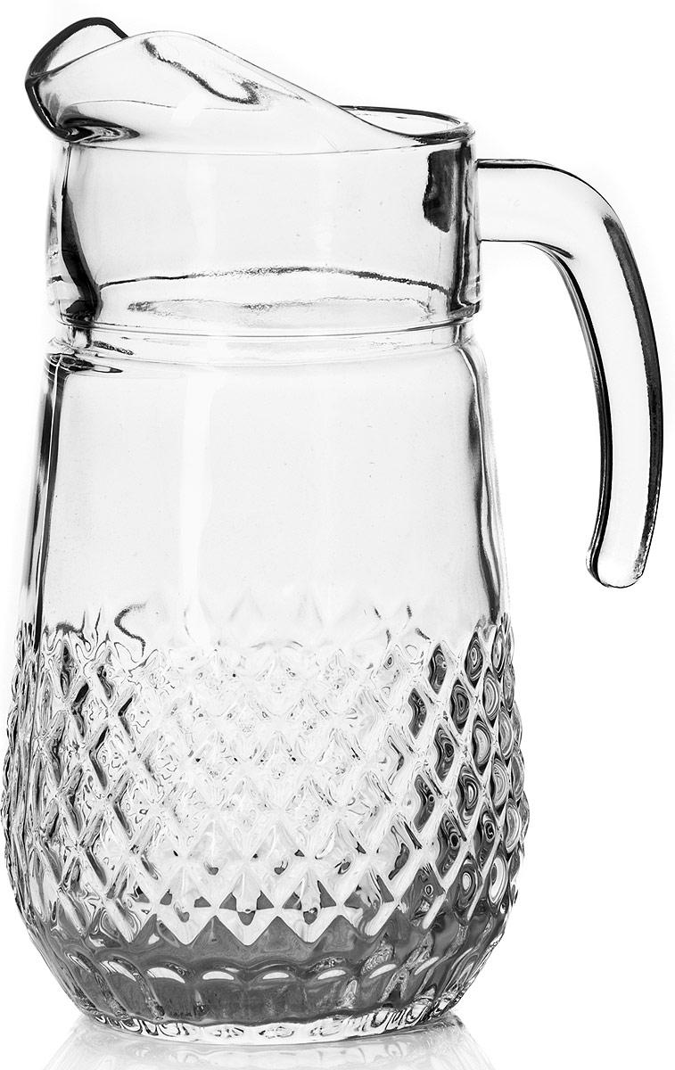 Кувшин Pasabahce Вальс, 1,34 л43474SLBКувшин Pasabahce, выполненный из высококачественного материала, оснащен удобной ручкой. Изделие прекрасно подходит для подачи воды, сока, компота и других напитков. Кувшин эффектно украсит любой кухонный интерьер и станет хорошим подарком для ваших близких.