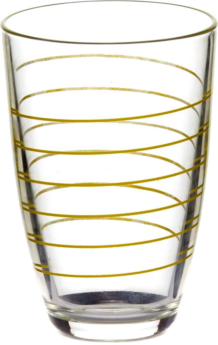 Стакан Pasabahce Спираль, цвет: зеленый, 360 мл