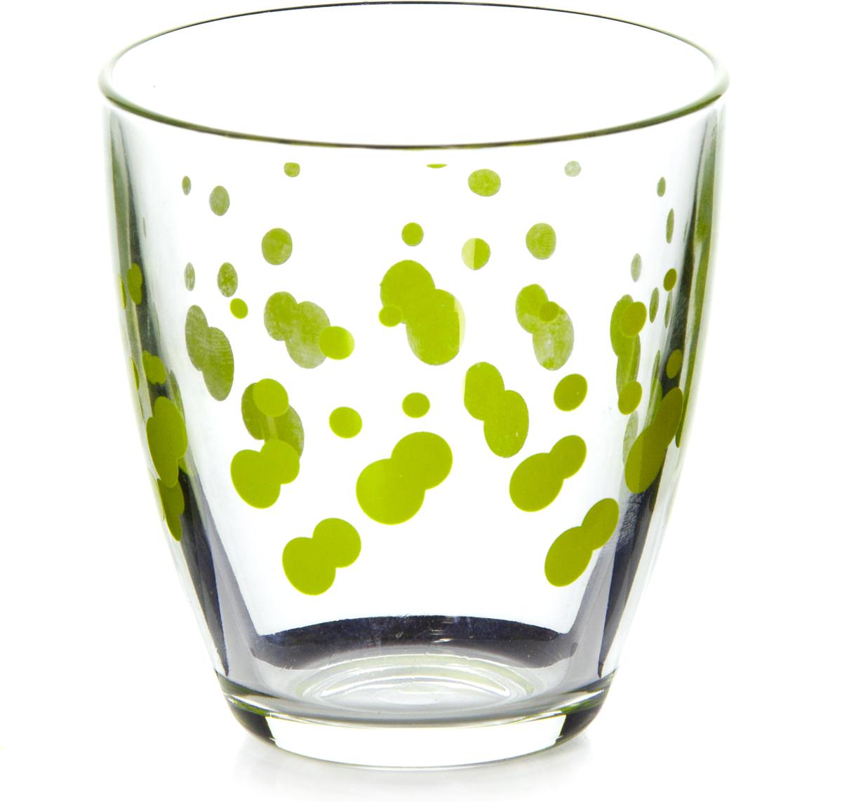 Стакан Pasabahce Джаз, цвет: зеленый, 285 мл52645SLBD6Стакан Pasabahce Джаз выполнен из силикатного стекла. Высота стакана - 90 мм, диаметр - 85 мм.
