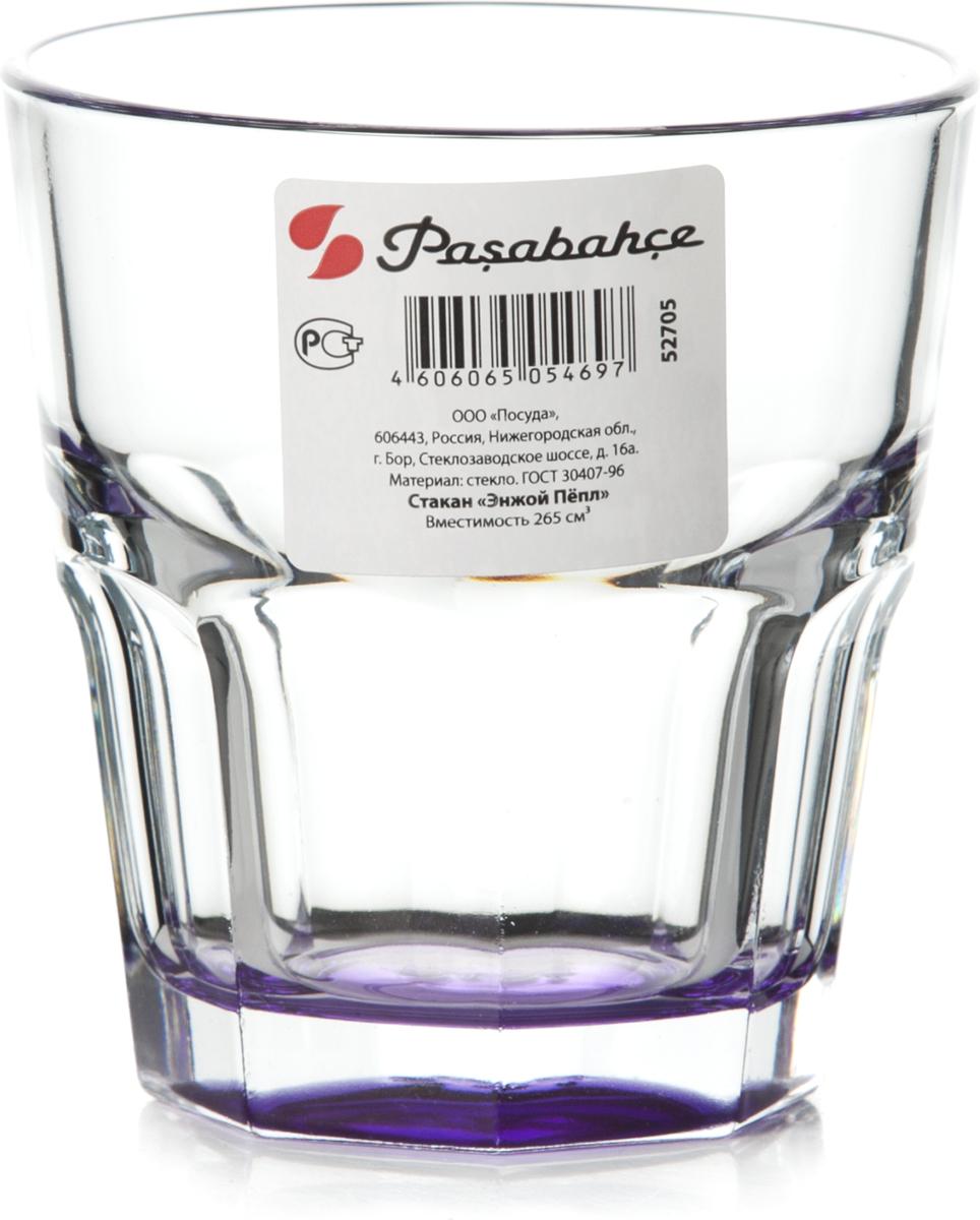 Стакан Pasabahce Энжой Пепл, 265 мл стакан pasabahce стамбул 190 мл