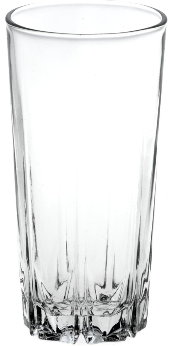 """Стакан Pasabahce """"Карат"""" выполнен из силикатного стекла.  Объем - 330 мл.  Высота стакана - 14 см."""