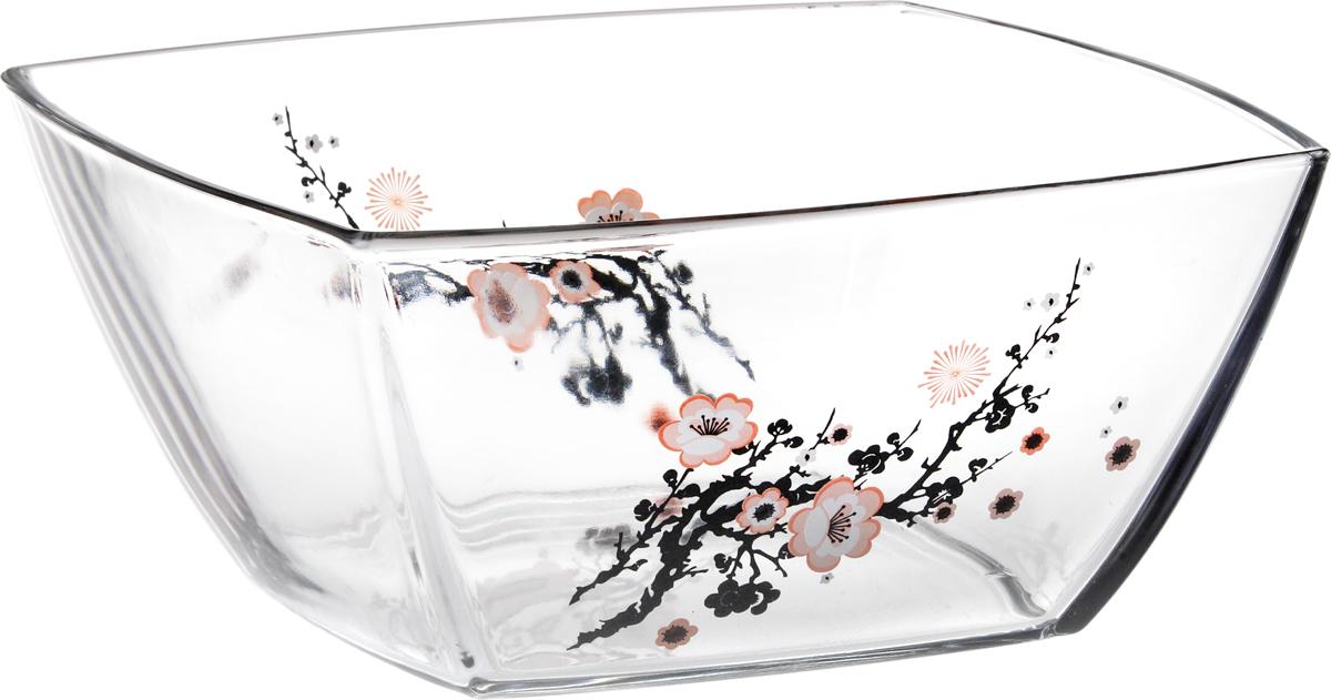 Салатник Pasabahce Сакура, 24 х 24 см53076SLBDСалатник Сакура выполнен из прозрачного стекла с рисунком ветки сакуры. Вместительный салатник станет украшением для ваших блюд. Также может использоваться в качестве фруктовницы и конфетницы.