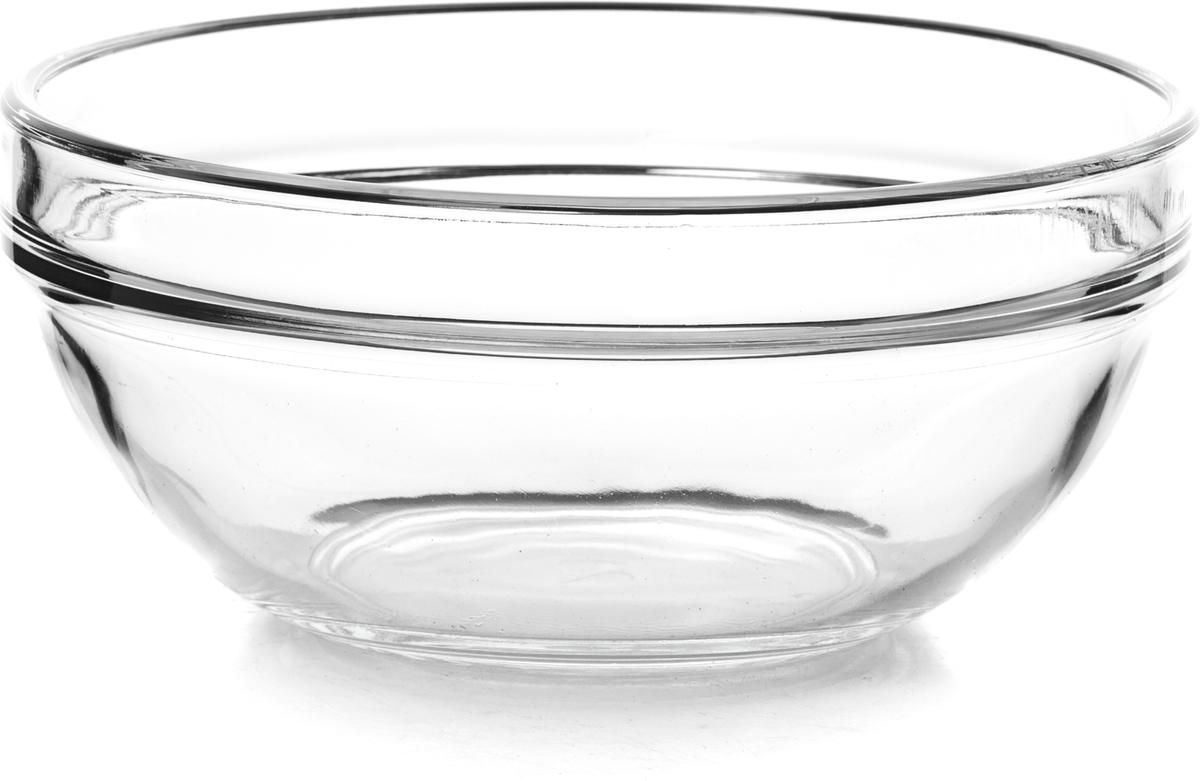Салатник Pasabahce Шефс, диаметр 14 см53553SLBTСалатников Шефс выполнен из прочного натрий-кальций-силикатного стекла. Такой салатник отлично подойдет для сервировки закусок, нарезок, салатов и других блюд.Можно мыть в посудомоечной машине и использовать в микроволновой печи.