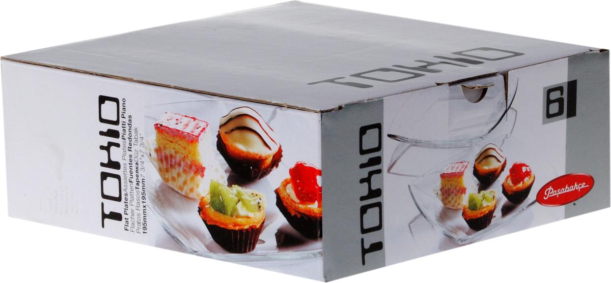 Набор тарелок Pasabahce Токио, 19,5 х 19,5 см, 6 шт54077BНабор Pasabahce Токио состоит из шести тарелок, выполненных из закаленного прозрачного стекла. Тарелки предназначены для красивой сервировки блюд. Они сочетают в себе изысканный дизайн с максимальной функциональностью. Оригинальность оформления тарелок придется по вкусу и ценителям классики, и тем, кто предпочитает утонченность и изящность. Набор тарелок Pasabahce Токио послужит отличным подарком к любому празднику. Можно использовать в микроволновой печи, холодильнике и морозильной камере, также мыть в посудомоечной машине.