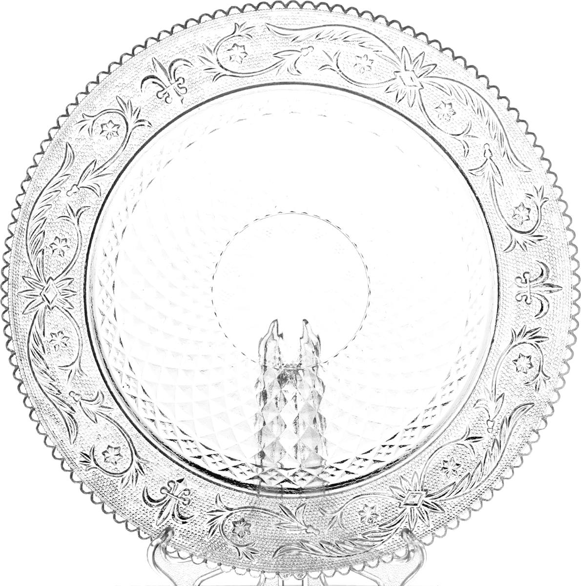 Блюдо Pasabahce Konya, диаметр 35,4 см54372BКруглое блюдо Pasabahce Konya выполнено из высококачественного закаленного стекла с рифленым бортиком. Изделие отлично подходит для сервировки закусок, нарезок, канапе, тортов, пирогов и многого другого. Такое блюдо украсит стол и подчеркнет ваш прекрасный вкус.Можно использовать в СВЧ и мыть в посудомоечной машине.