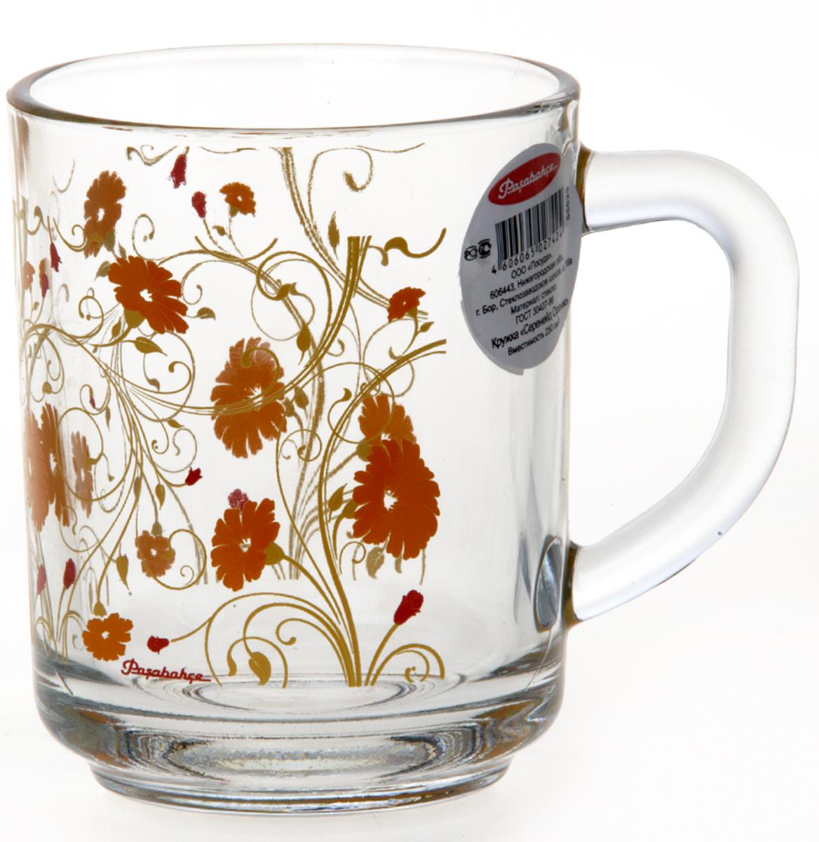 """Кружка Pasabahce """"Оранж Серенейд"""" идеально подходит для сервировки стола. Кружка не только украсит ваш кухонный стол, но и подчеркнет прекрасный вкус хозяйки."""