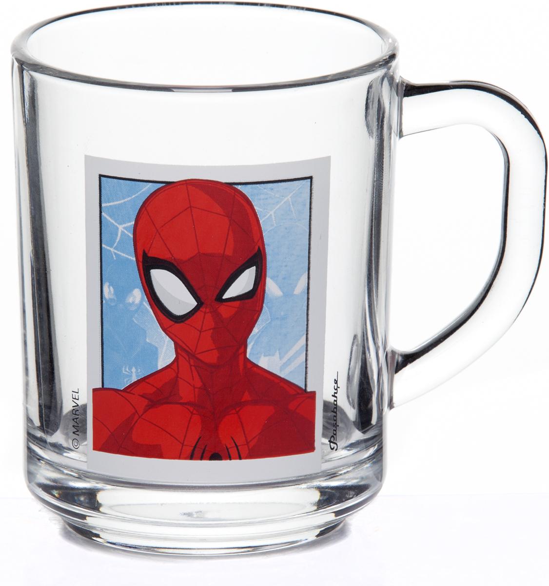 Кружка Pasabahce Человек-Паук, 250 мл.55029SLBD37Детская кружка Pasabahce Человек-Паук изготовлена из прозрачного стекла и украшена красивым рисунком. Изделие идеально подходит для сервировки стола. Кружка не только украсит ваш кухонный стол, но и понравится вашему ребенку.