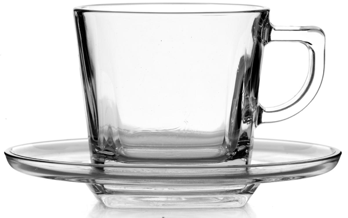 """Чайный набор Pasabahce """"Балтик"""" состоит из шести чашек и шести блюдец. Предметы набора изготовлены из прочного натрий-кальций-силикатного стекла. Изящный чайный набор великолепно украсит стол к чаепитию и порадует вас и ваших гостей ярким дизайном и качеством исполнения.Можно использовать в холодильнике и мыть в посудомоечной машине.Объем чашки: 215 мл.Диаметр блюдца: 13,5 см."""