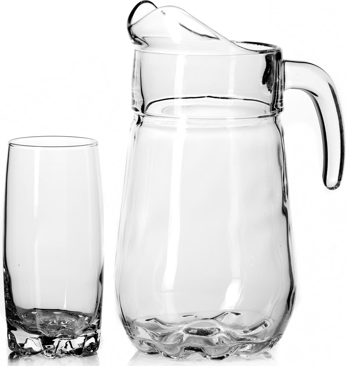Набор питьевой Pasabahce Sylvana, 7 предметов97875BПитьевой набор Pasabahce Sylvana состоит из 6 стаканов и кувшина. Изделия выполнены из высококачественного прочного стекла. Набор прекрасно подходит для сока, воды, лимонада и других напитков.Изделия устойчивы к повреждениям и истиранию, в процессе эксплуатации не впитывают запахии сохраняют первоначальные краски. Можно мыть в посудомоечной машине.Объем кувшина: 2,6 л.Высота кувшина: 24 см.Объем стакана: 300 мл.Высота стакана: 15 см.