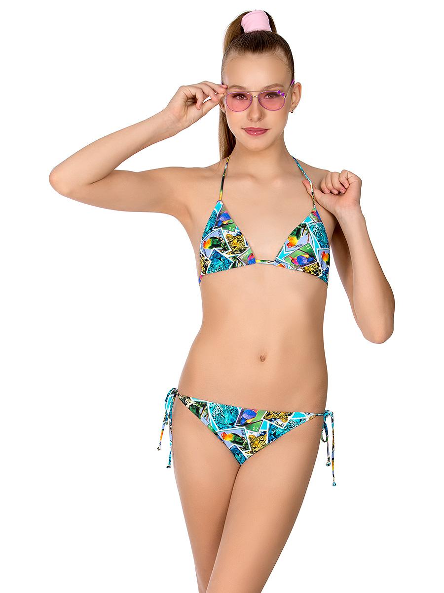Купальник раздельный для девочки Arina Nirey, цвет: разноцветный. YP 101801. Размер 36 (42) купальник слитный для девочки arina festivita цвет разноцветный yi 021806 af размер 36 42