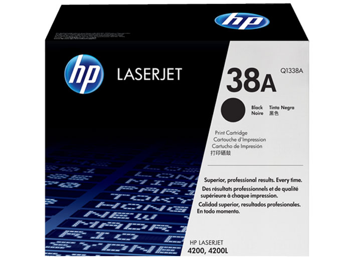 HP Q1338A (38A), Black картридж для LaserJet 4200 цветной тм gx9634