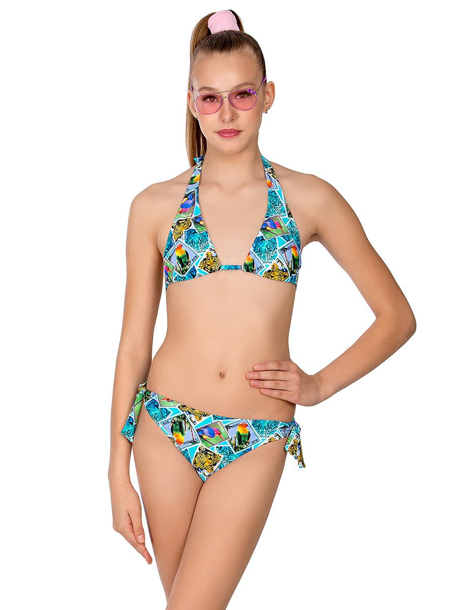 Купальник раздельный для девочки Arina Nirey, цвет: разноцветный. YP 101802. Размер 36 (42) купальник слитный для девочки arina festivita цвет синий gi 011806 af размер 152 158