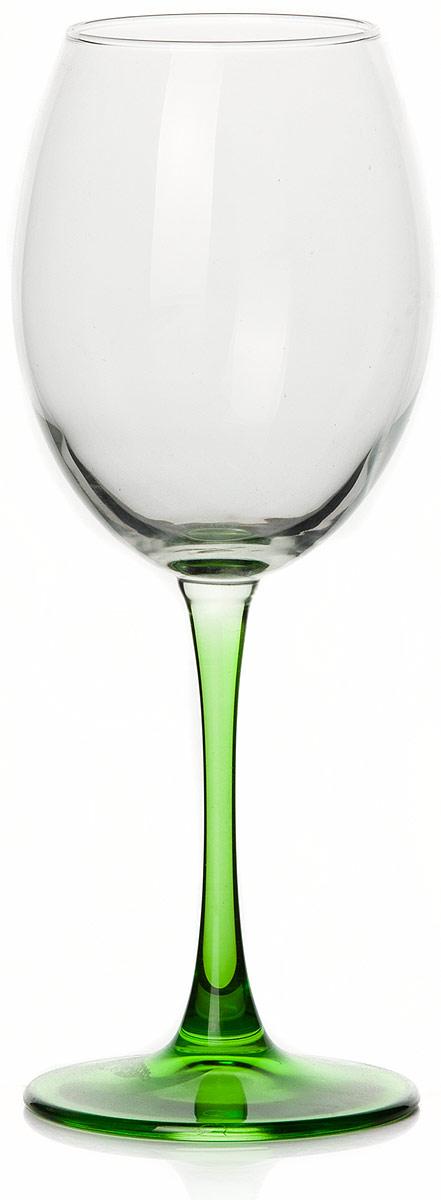 Бокал Pasabahce Энжой Грин, цвет: зеленый, 440 мл44728SLBD3Бокал Pasabahce Энжой Грин с зеленой ножкой изготовлен из качественного силикатного стекла, которое отличается прочностью и износостойкостью. Бокал предназначен для подачи вина. Он сочетает в себе элегантный дизайн и функциональность.Благодаря такому бокалу пить напитки будет еще вкуснее. Бокал Pasabahce Энжой Грин прекрасно оформит праздничный стол и создаст приятную атмосферу за романтическим ужином.