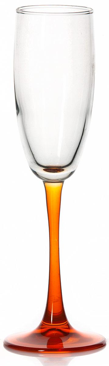 Бокал Pasabahce Энжой Оранж, цвет: оранжевый, 175 мл44688SLBD7Бокал для шампанского Pasabahce Энжой Оранж с оранжевой ножкой изготовлен из качественного силикатного стекла, которое отличается прочностью и износостойкостью. Он сочетает в себе элегантный дизайн и функциональность.Благодаря такому бокалу пить напитки будет еще вкуснее. Бокал Pasabahce Энжой Оранж прекрасно оформит праздничный стол и создаст приятную атмосферу за романтическим ужином.