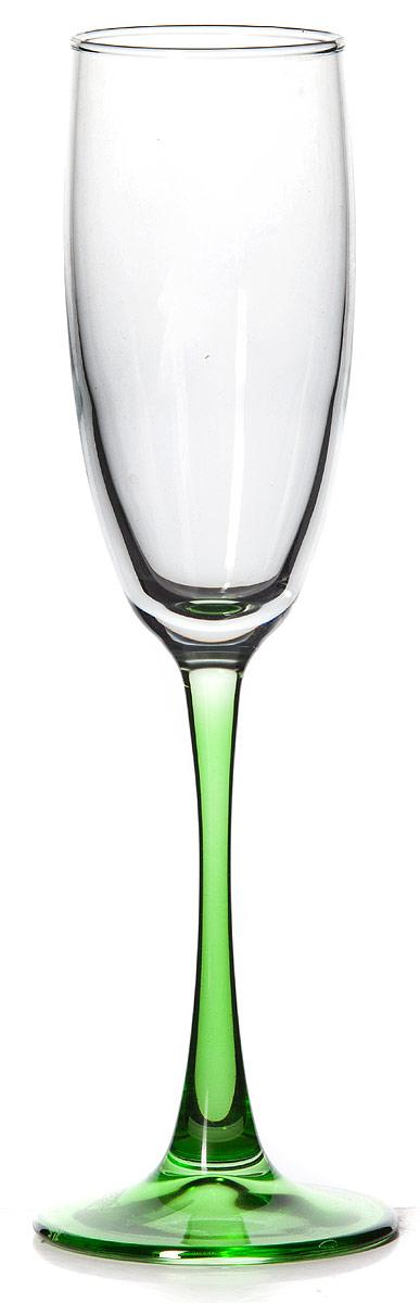 Бокал Pasabahce Энжой Грин, цвет: зеленый, 175 мл44688SLBD8Бокал для шампанского Pasabahce Энжой Грин с зеленой ножкой изготовлен из качественного силикатного стекла, которое отличается прочностью и износостойкостью. Он сочетает в себе элегантный дизайн и функциональность.Благодаря такому бокалу пить напитки будет еще вкуснее. Бокал Pasabahce Энжой Грин прекрасно оформит праздничный стол и создаст приятную атмосферу за романтическим ужином.