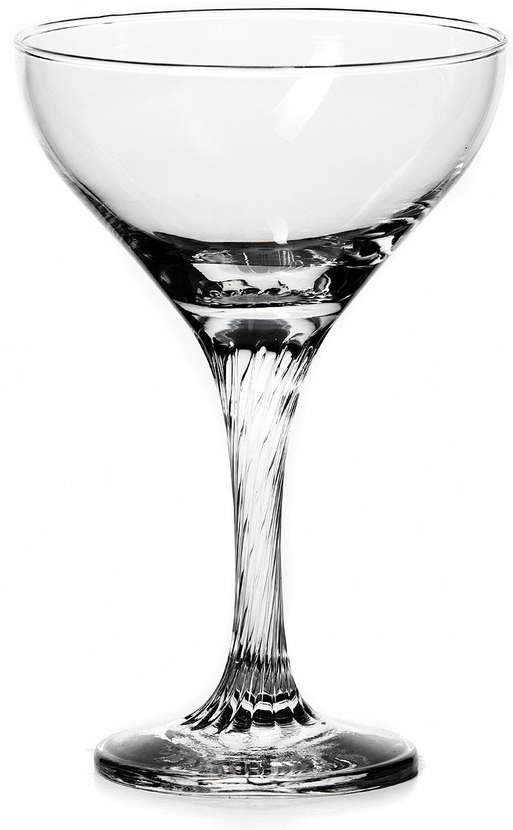 """Бокал Pasabahce """"Твист"""" изготовлен из качественного силикатного стекла, которое отличается прочностью и износостойкостью. Бокал предназначен для подачи коктейлей и шампанского. Он сочетает в себе элегантный дизайн и функциональность.  Благодаря такому бокалу пить напитки будет еще вкуснее. Бокал Pasabahce """"Твист"""" прекрасно оформит праздничный стол и создаст приятную атмосферу за романтическим ужином."""
