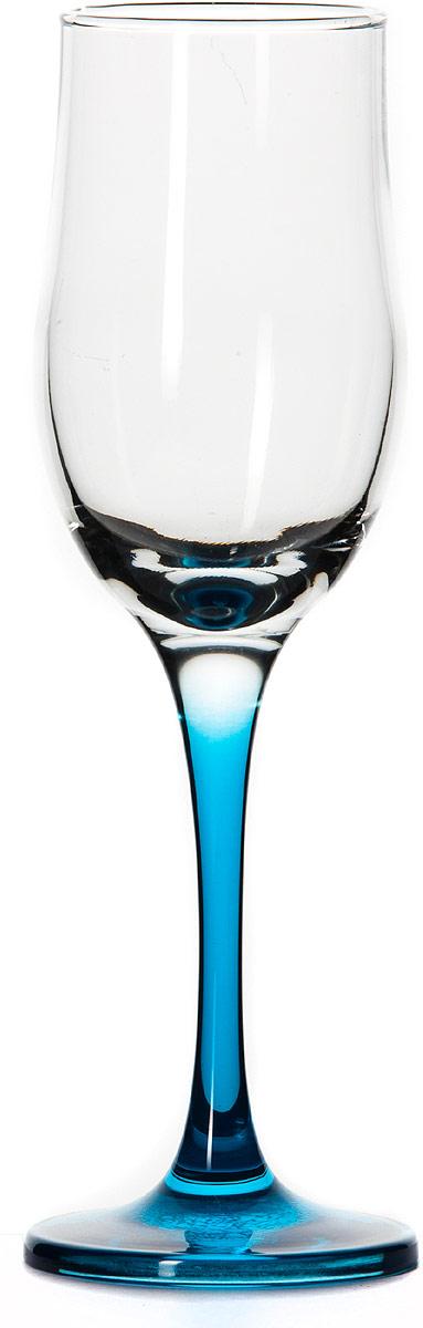 Бокал Pasabahce Энжой Блю, цвет: синий, 200 мл44160SLBD12Бокал для шампанского Pasabahce Энжой Блю с синей ножкой изготовлен из качественного силикатного стекла, которое отличается прочностью и износостойкостью. Он сочетает в себе элегантный дизайн и функциональность.Благодаря такому бокалу пить напитки будет еще вкуснее. Бокал Pasabahce Энжой Блю прекрасно оформит праздничный стол и создаст приятную атмосферу за романтическим ужином.
