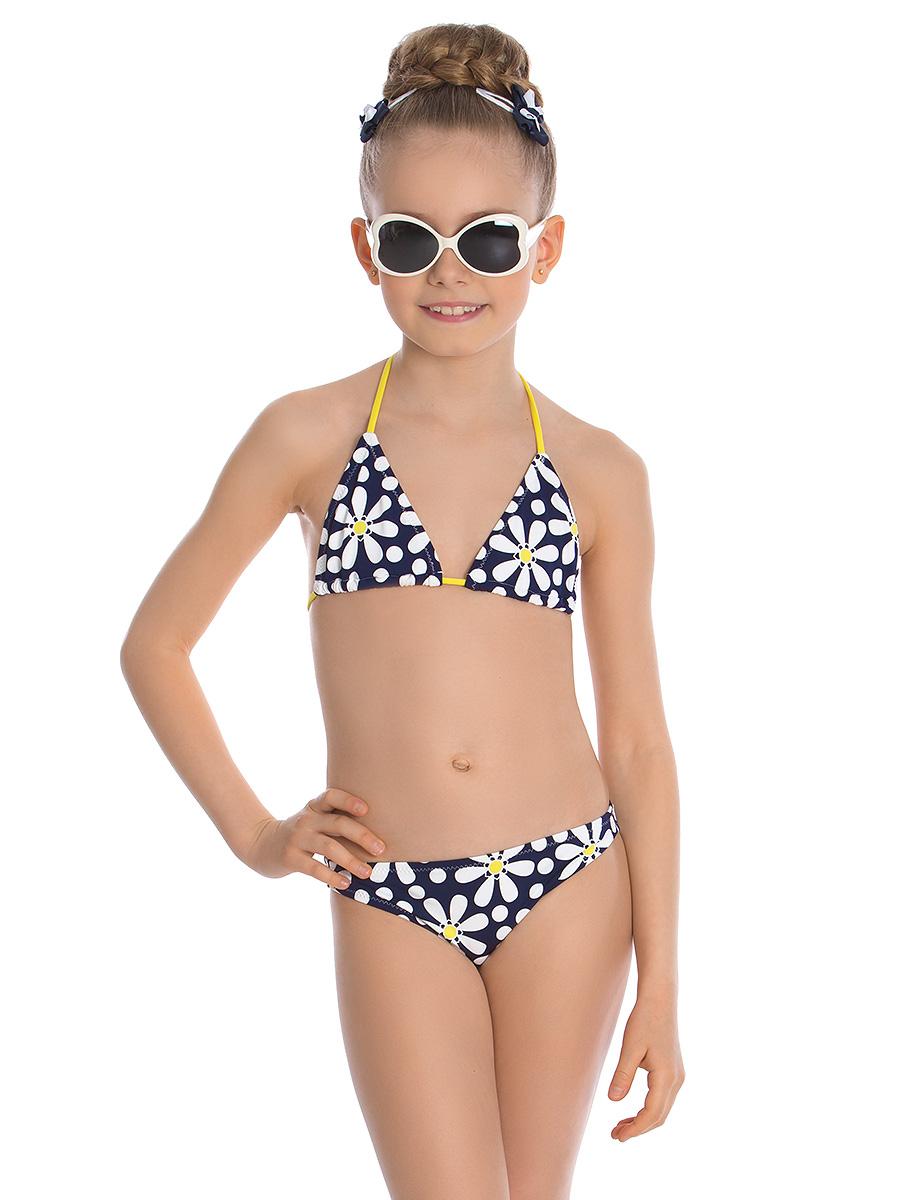 Купальник раздельный для девочки Arina Nirey, цвет: синий, белый. GM 021806. Размер 128/134 купальник слитный для девочки arina festivita цвет разноцветный yi 021806 af размер 36 42