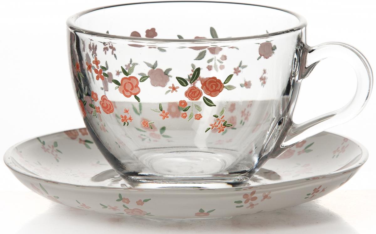 Набор чайный Pasabahce Прованс, 12 предметов97948B/SЧайный набор Pasabahce Прованс состоит из шести чашек и шести блюдец. Предметы набора изготовлены из прочного натрий-кальций-силикатного стекла и декорированы цветочным рисунком. Изящный чайный набор великолепно украсит стол к чаепитию и порадует вас и ваших гостей ярким дизайном и качеством исполнения.Можно использовать в холодильнике и мыть в посудомоечной машине.Объем чашки: 215 мл.Диаметр блюдца: 13,7 см.