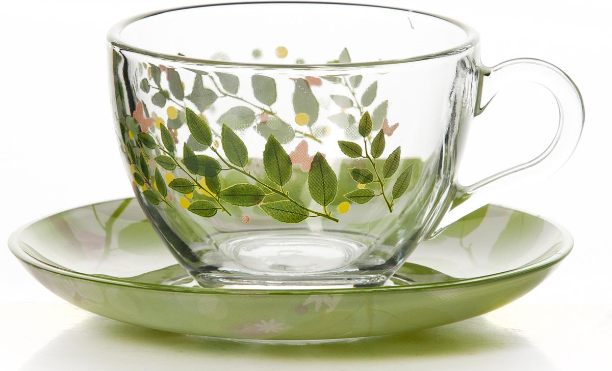 """Чайный набор Pasabahce """"Баттерфлайс"""" состоит из шести чашек и шести блюдец. Предметы набора изготовлены из прочного натрий-кальций-силикатного стекла. Изящный чайный набор великолепно украсит стол к чаепитию и порадует вас и ваших гостей ярким дизайном и качеством исполнения.Можно использовать в холодильнике и мыть в посудомоечной машине.Объем чашки: 215 мл.Диаметр блюдца: 13,7 см."""