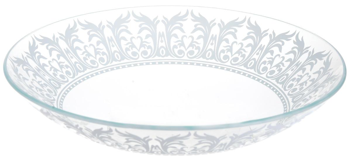 Тарелка глубокая NiNaGlass Кружево 4, цвет: белый, диаметр 23 см85-225-144пб4Тарелка NiNaGlass Кружево выполнена из высококачественного стекла и декорирована под Вологодское кружево. Тарелка идеальна для подачи вторых блюд, а также сервировки закусок, нарезок, салатов, овощей и фруктов. Она отлично подойдет как для повседневных, так и для торжественных случаев. Такая тарелка прекрасно впишется в интерьер вашей кухни и станет достойным дополнением к кухонному инвентарю.