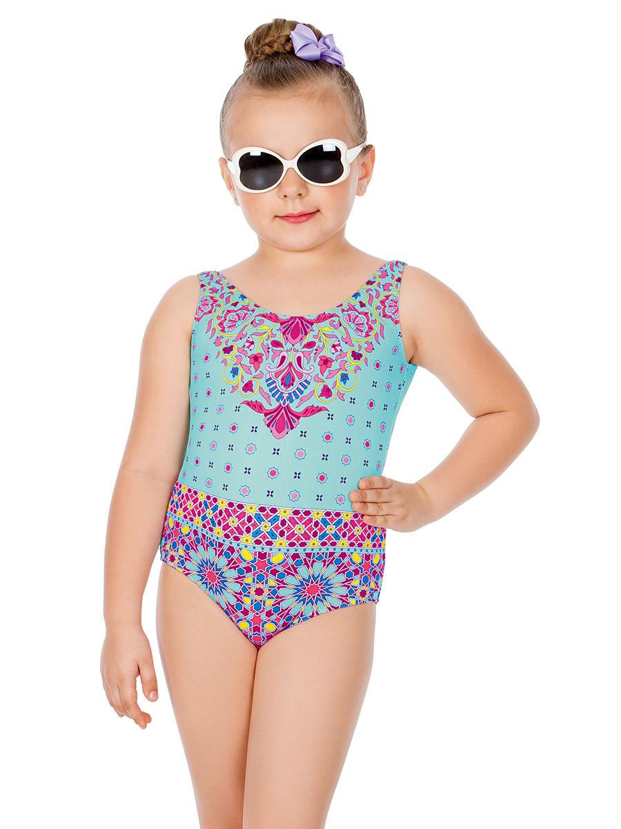 Купальник слитный для девочки Arina Nirey, цвет: бирюзовый, сиреневый. GS 061805. Размер 140/146 купальник от эйвон
